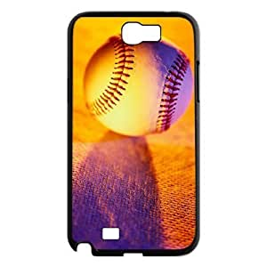 Custom Hard Plastic Back Case Cover for Samsung Galaxy Note 2 N7100 with Unique Design Baseball wangjiang maoyi