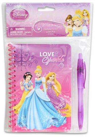 60 Sheet Disney Princess Sparkle Journal w/Pen 48 pcs sku# 1859042MA by Disney Princess