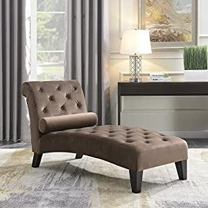 BELLEZE Chaise Lounge Leisure Chair Rest Sofa Couch Indoor Home Office Living Room Furniture Lumber Pillow