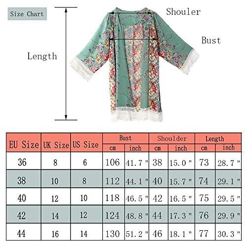 Fashion Imprim Fleur Saoye Automne Mousseline Printemps Cardigan Femme Bwq1q0Hd
