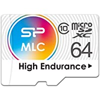 Silicon Power 64GB High Endurance MLC Video Monitorin Micro SDXC Memory Card, with Adapter (SU064GBSTXIU3V10AE)