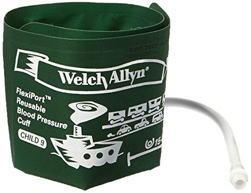 Welch Allyn REUSE-09-1SC FlexiPort Reuseable One Piece Cuffs, Child One-Tube Cuff, Size 9