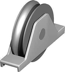 Rodillo garge 1/2 redondo Ø 20 mm – Soporte para soldar Ø 160 – 2 ...