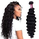 Odir Deep Wave Human Hair Bundles 1 Bundle 28 inch 9A Unprocessed Brazilian Deep Curly Virgin Human Hair Weave Bundles Natural Color