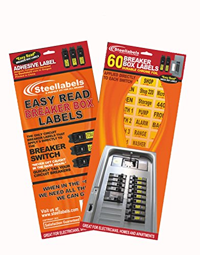 'Easy Read' Breaker Box Decals. Tough vinyl labels for Circuit Breakers, great for Home Owners, Apartment Complexes and Electricians. Place stickers directly on the breaker switch, makes identifying the right circuit easier. Best Quality at the Best Prices