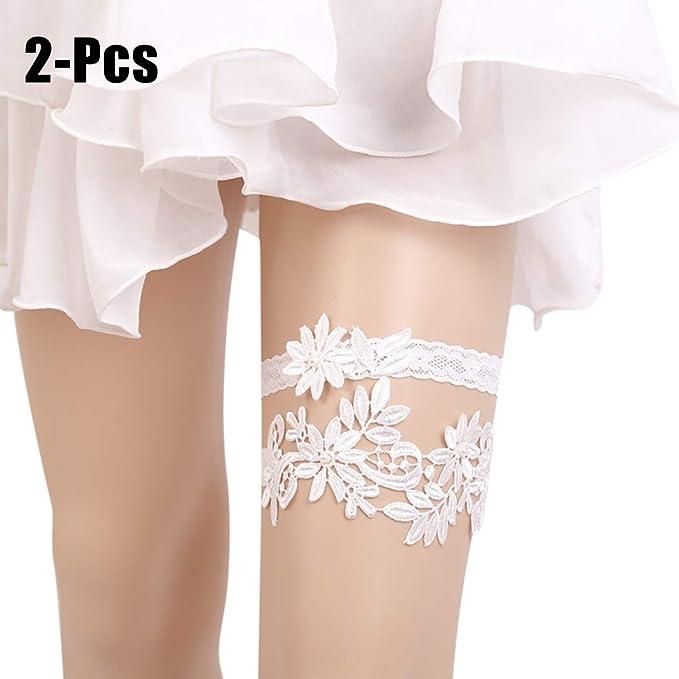 6358411ef26 Zoylink 2PCS Wedding Garter Lace Bridal Garter Belt Women Garter Set for  Party  Amazon.co.uk  Clothing