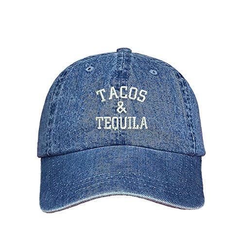 - Prfcto Lifestyle Tacos & Tequila Dad Hat - Denim Baseball Cap - Unisex