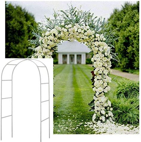 Adorox 7, 5 m Blanco Metal Arco para jardín de Novia Partido decoración árbol: Amazon.es: Jardín