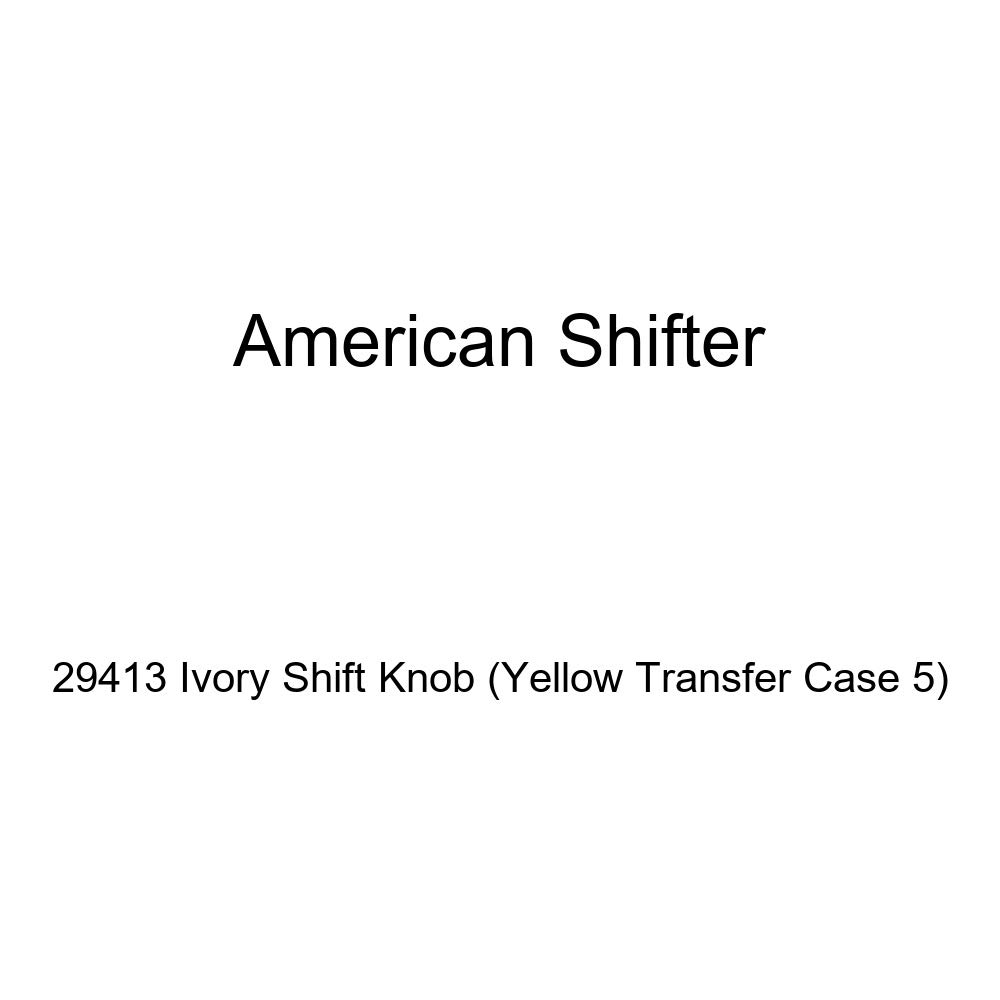 American Shifter 29413 Ivory Shift Knob Yellow Transfer Case 5