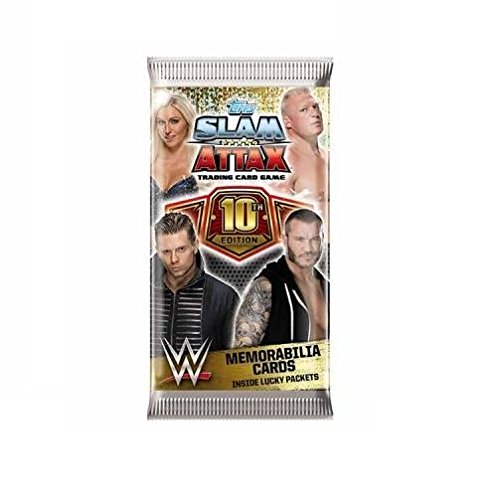 Topps - WWE Slam Attax - 10th Edition Single Booster Pack (1 x Supplied) (Dispatched From UK) 10th Edition Booster