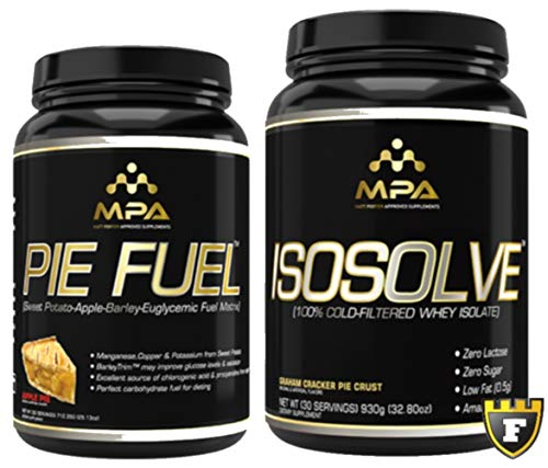 MPA Supplements Isosolve/Pie Fuel Synergistic Muscle Building Stack | Premium Cold Filtered Whey, Bodybuilding Nutrition (1.5lb +1.9lb)