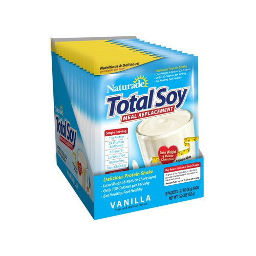 Naturade Total Soy Supplement, Vanilla,1.27 Ounce,  25 Count
