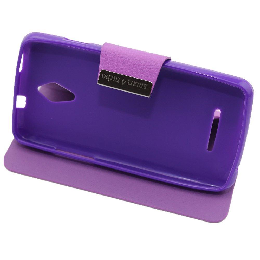 Misemiya ® | Funda Vodafone Smart 4 Turbo Libro Cuero Agenda Soporte Violeta: Amazon.es: Electrónica