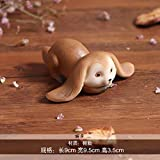 DeemoShop Resin Creative Features Cute Rabbits Animal Home Statuette Decoration Kids Play Gift Figurines Crafts Car Ornaments