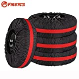 Daphot Store 4 x Universal Car Tire Covers Water-repellent Auto Spare Tyre Protector Storage Bag For Summer and Winter Tire Covers