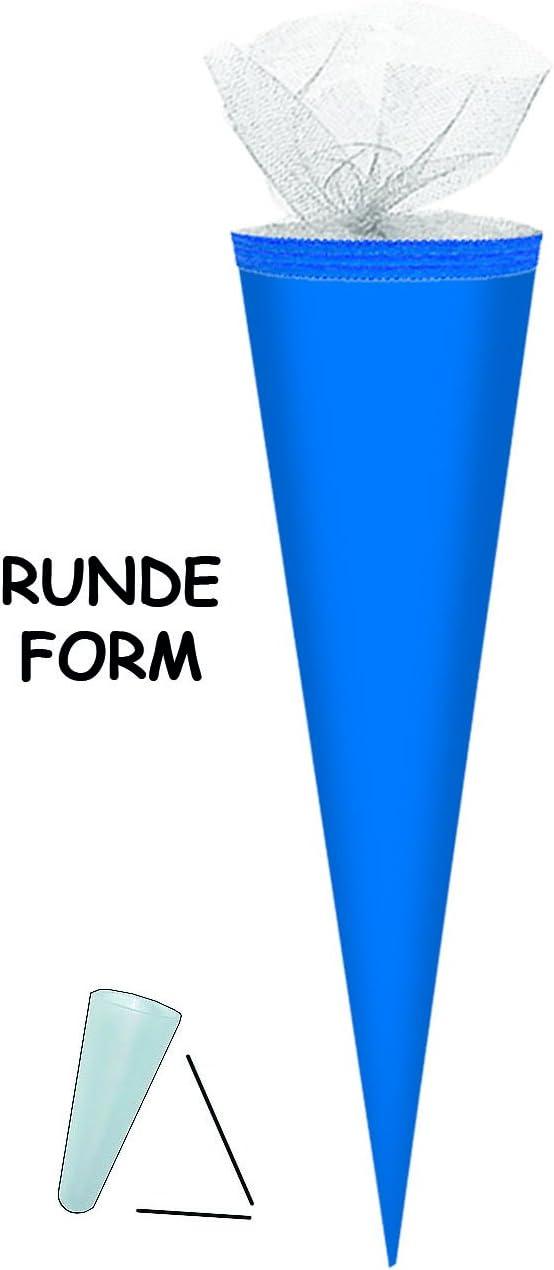 Namen mit Kreppabschlu/ß Bemalen und Bekleben Bastelschult/üte Unbekannt Schult/üte // Bastelschult/üte Zuckert/üte dunkel Blau 35 cm incl Rohling zum Basteln