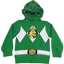 The Power Rangers Big Boys I Am Costume Zip Hoodie Green 14/16