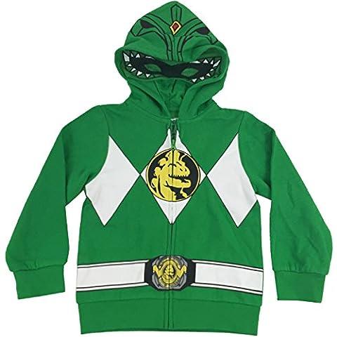The Power Rangers Big Boys I Am Costume Zip Hoodie Green 14/16 - Ranger Verde