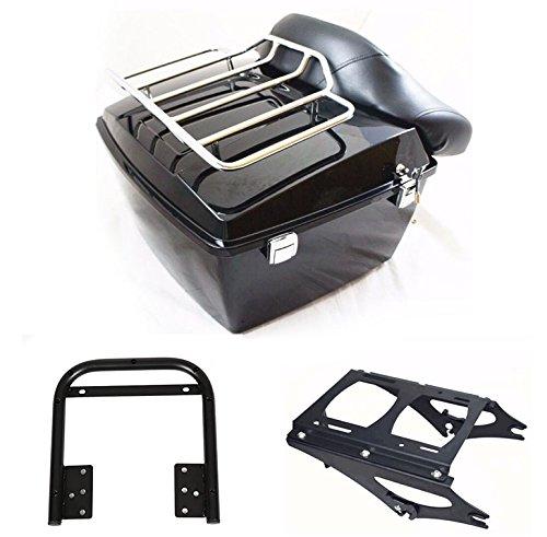 - Black Tour pak pack trunk for Harley 2009-2013 touring Road King Electra glide &bracket