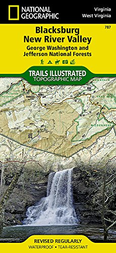 Blacksburg, New River Valley: Jefferson National Forest, Virginia (National Geographic Trails Illustrated Map) (Red River Gorge Trail Map)