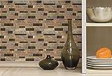 "RoomMates Modern Long Stone Peel and Stick Tile Backsplash, 4-pack 10.5"" X 10.5"""