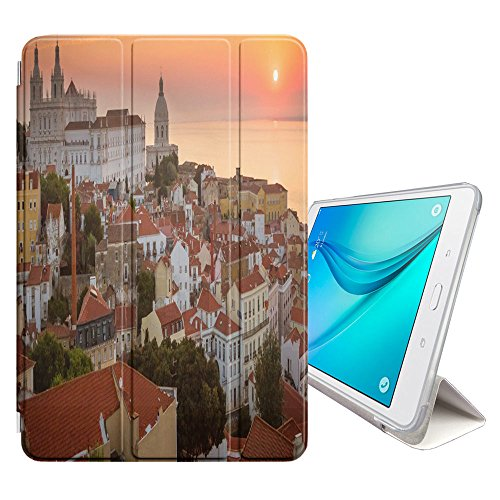 Graphic4You Lisbon Portugal Postcard View Smart Cover Case Stand for Samsung Galaxy Tab E Lite 7