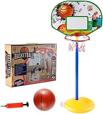 Lommer cesta de baloncesto para niños, ajustable 68 – 150 cm Cesta ...