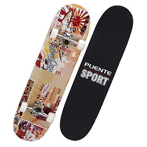 品揃え豊富で PUENTE標準スケートボード、31インチ完全スケートボード8枚のメイプルウッド、子供と大人のためのプロスケートボード B07G241JBR B07G241JBR, 【NEW限定品】:9ad2c163 --- a0267596.xsph.ru