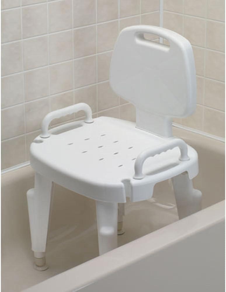Bath Safe Adjustable Bath - Shower Seat mit Removable Arms & Back