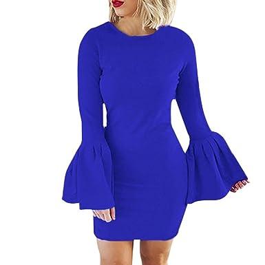 Hellblaues kleid puffarmel
