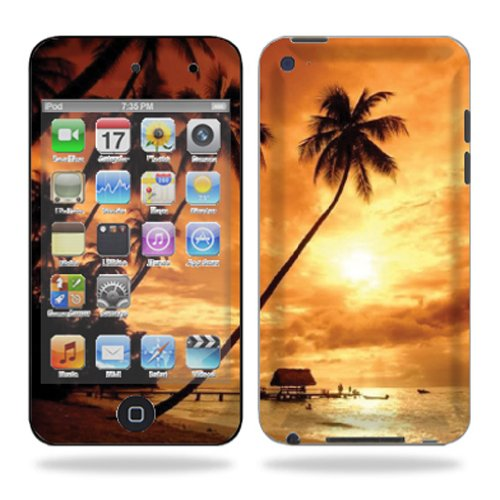 - MightySkins Protective Vinyl Skin Decal Cover for iPod Touch 4G 4th Generation wrap sticker skins – Sunset