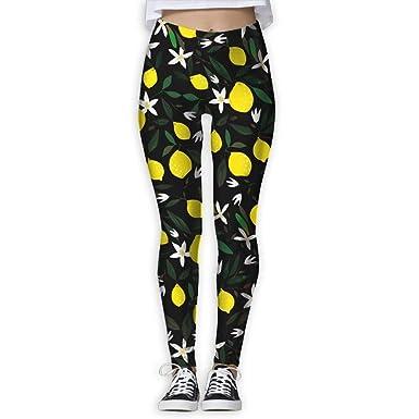 ef1580a29e7cc SHEERY Women's Yoga Workout Leggings Lemon Thin Capris Pants Yoga Pants at  Amazon Women's Clothing store: