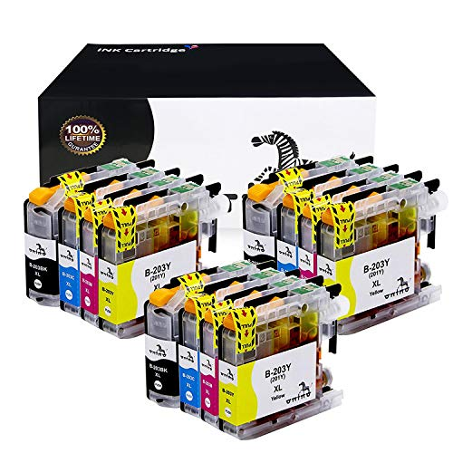 onino Compatible Ink Cartridges Replacement for Brother LC203XL MFC-J485DW,MFC-J460DW,J885DW,MFC-J480DW,J680DW,MFC-J880DW,MFC-J4320DW,J4620DW,J5520DW,J5620DW Black Cyan Magenta Yellow 12-Pack
