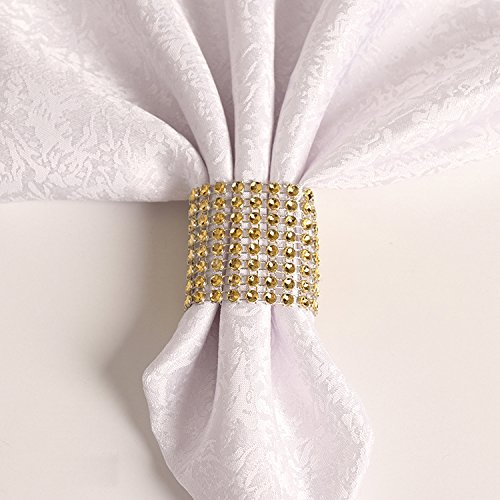 100PCS Rhinestone Napkin Rings Diamond Decoration for Wedding Party Banquet Reception Catering by CSPRING by CSPRING (Image #3)