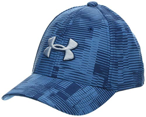 Under Armour Boy's Printed Blitzing 3.0 Hat, Heather Blue//Coded Blue, X-Small/Small