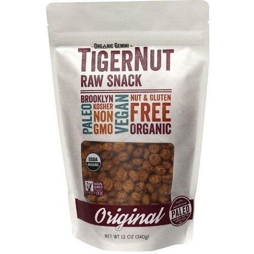 Organic Gemini TigerNuts Gluten Free, Paleo, Raw Snack, Original, 5 oz