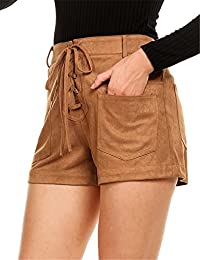 Women's High Waist Shorts Pants Walking Chino Casual Summer Beach Short