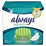 Always Infinity Heavy Flow Pads With Revolutionary Wings 16 Pads 16 CT (Pack of 24)