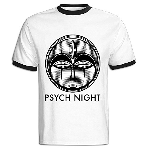 PSYCH NIGHT Colorblocking Short Tshirt Man's Online T Easeful