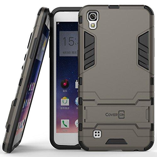 LG X Power Case, CoverON [Shadow Armor Series] Hard Slim Hybrid Kickstand Phone Cover Case for LG X Power K210 / K6P - Gray