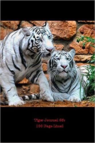 Book Tiger Journal 5: 100 Page Lined: Blank 100 page lined journal for your thoughts, ideas, and inspiration