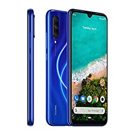 Xiaomi Mi A3 128GB + 4GB RAM, Triple Camera, 4G LTE Smartphone – International Global Version (Not just Blue)