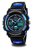 Kids Sports Digital Watch Boys Girls Outdoor Waterproof Watches Quartz Dual Time Zone Alarm Multifunction CH292