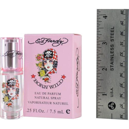 Ed Hardy Born Wild by Christian Audigier for Women, Eau de Parfum Spray Mini, 0.25 Ounce