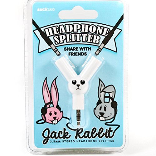 - SUCK UK Jack Rabbit Headphone Splitter