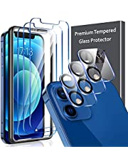 6 Pack LK 3Pcs Screen Protector Compatible with iPhone 12 5G - 6.1 inch & 3Pcs Camera Lens Protector Anti-Scratch Easy-Installation Tool Tempered Glass 9H Hardness Compatible with iPhone 12 5G - 6.1 inch, Not Compatible with iPhone 12 pro 5G - 6.1 inch