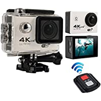 niceEshop(TM) 4K HD Wifi Action Camera 2.0 Inch 170 Degree Wide Angle Lens Action Camera WIFI 4k Waterproof Sports Action Camera, White