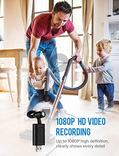 Elikliv Mini Cameras 1080P HD Small USB Camera Nanny Cam with Motion Detection Loop Recording for Home Office Monitor Direct Recording Edition with 32G TF Card