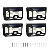 ECO-WORTHY 66 LED Solar Lights Outdoor Motion Sensor Wall Night Lamp 270° Wide Angle for Garden, Garage, Yard, Lawn, Pool, Driveway, Pathway, Front Door, Deck(4-Pack)