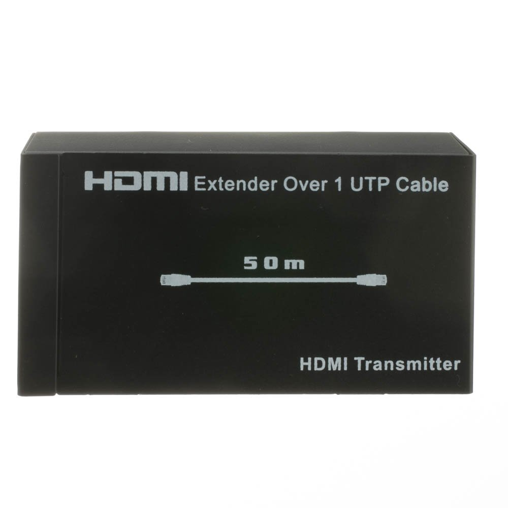 ACL HDMI Extender/Repeater (Working Distance 164 Feet/50 Meter) Over Cat6 with Power, Black, 3 Pack